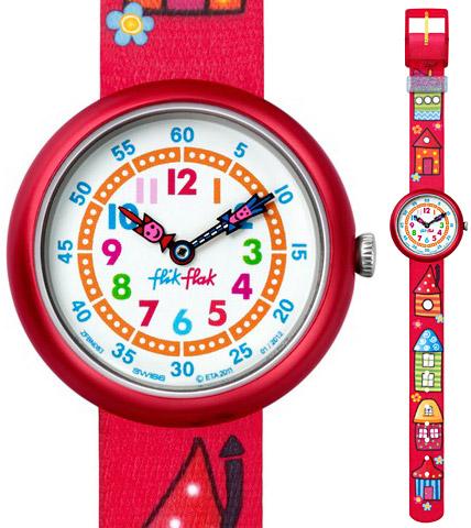 Armbanduhr kinder flik flak  flik flak kinderuhr COLORED ROOFS * FBN 083 | Zeichen der Zeit